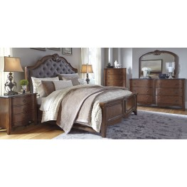 Balinder Medium Brown Upholstered Panel Bedroom Set