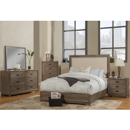 Camilla Grey Upholstered Panel Bedroom Set