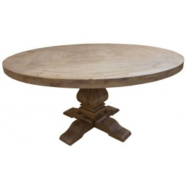 Florence Warm Natural Round Dining Table by Donny Osmond