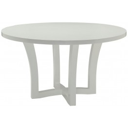 Caprice White Round Dining Table by Donny Osmond
