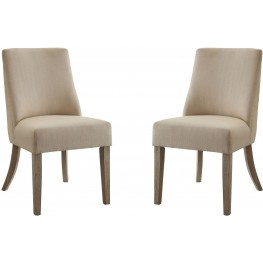 Beige Side Chair by Donny Osmond Set of 2