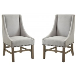 Florence Light Grey Fabric Side Chair Set of 2