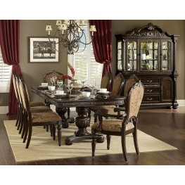 Russian Hill Warm Cherry Extendable Dining Room Set