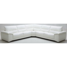 Adriana Premium White Leather Sectional