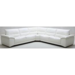 Adriana Premium White Leather Sectional