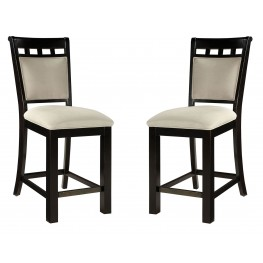 Gateway Brown and Grey Upholstered Barstool Set of 2
