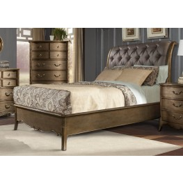 Chambord Champagne Gold Cal. King Sleigh Bed