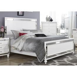 Alonza Bright White Queen Panel Bed