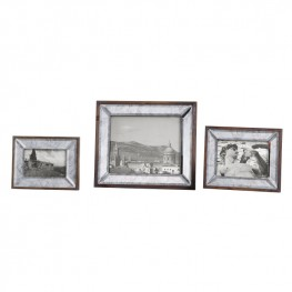 Daria Antique Mirror Photo Frames Set of 3