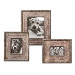 Zana Red Distressed Photo Frames Set of 3