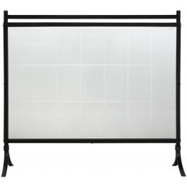 Tate Black Tempered Glass Fireplace Screen