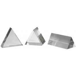 Triangle Trio Chrome Sculptures Set of 3