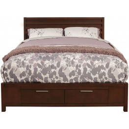 Urban Merlot Full Storage Bed