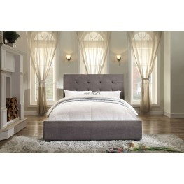 Cadmus Dark Grey Fabric Queen Bed
