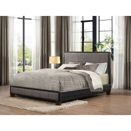 Quinton Fabric & Vinyl Full Platform Bed