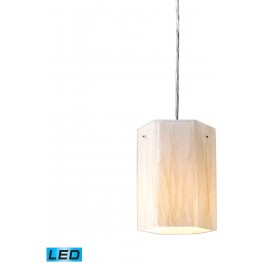 Modern Organics Polished Chrome And White Sawgrass 1 Light LED Pendant
