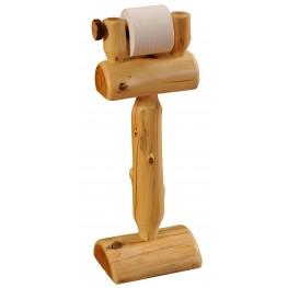 Cedar Free Standing Toilet Paper Holder