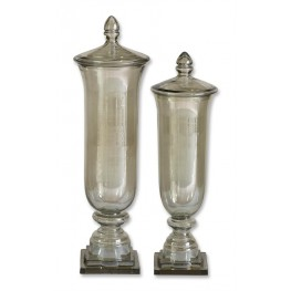 Gilli Glass Decorative Containers, Set of 2