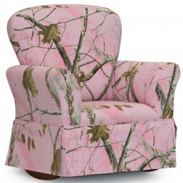 Real Tree Pink Skirted Kids Recliner