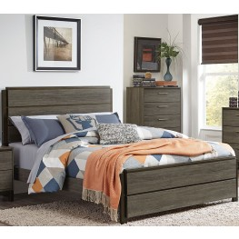 Vestavia Gray Full Panel Bed