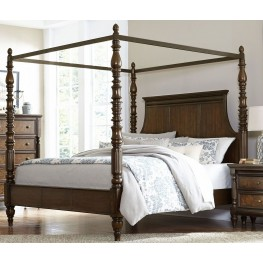 Verlyn Cherry King Canopy Bed