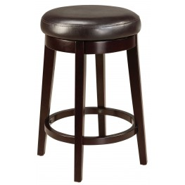 """Round Brown 24"""" Upholstered Smart Stool"""