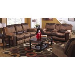Portman Saddle/Chocolate Reclining Living Room Set