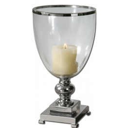 Lino Clear Glass Candleholder