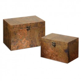 Ambrosia Copper Boxes Set of 2