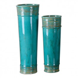 Thane Teal Green Vases Set of 2