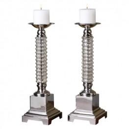 Ardex Mercury Glass Candleholders Set of 2