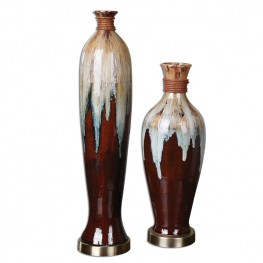Aegis Ceramic Vases Set of 2