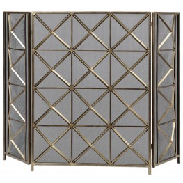 Akiva Champagne Fireplace Screen