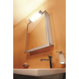 "Axara 19"" Hinge Right Anodized Mirror Cabinet"