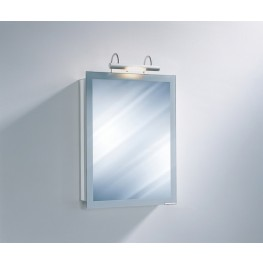 "Axara 19"" Hinge Left Anodized Mirror Cabinet with Halogen Lamp"