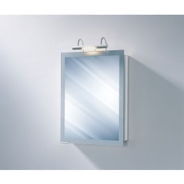 "Axara 19"" Hinge Right White Mirror Cabinet with Halogen Lamp"