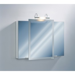 "Axara 39"" Hinge Left White Mirror Cabinet with Halogen Lamp"