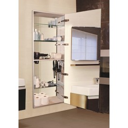 "Tall 60"" Recessed Left Hinge Mirror Cabinet"