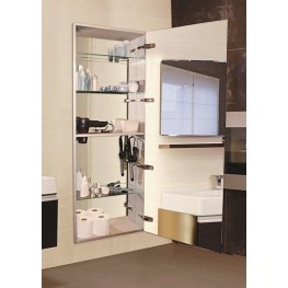 "Tall 60"" Semi Recessed Right Hinge Mirror Cabinet"