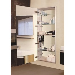 "Tall 60"" Semi Recessed Left Hinge Deep Mirror Cabinet"