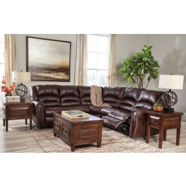 Manzanola Chocolate Reclining Sectional