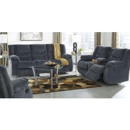 Garek Blue Reclining Living Room Set