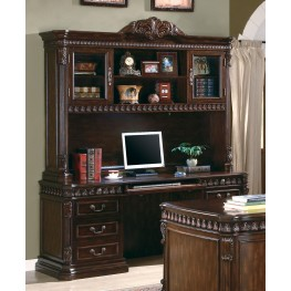 Union Hill Rich Brown Home Office Credenza with Hutch