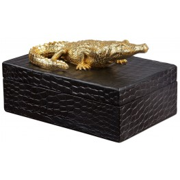 Gold Crocodile Box