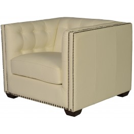 Belarie White Leather Chair
