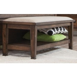 Franco Burnished Oak Bench