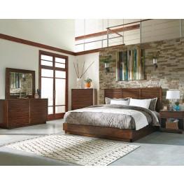 Avery Aged Bourbon Platform Bedroom Set