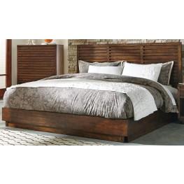 Avery Aged Bourbon King Platform Bed
