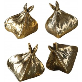 Box Fruit Gold Sculptures Set of 4