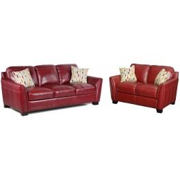 Midtown Red Living Room Set